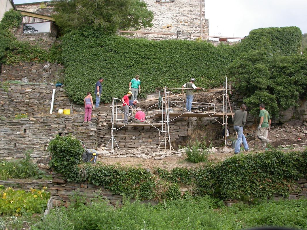 Stage mur pierre sèche St Julien du Tournel